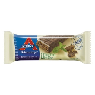 Image for Atkins Advantage Chocolate Mint Bar - 60g from Amcal