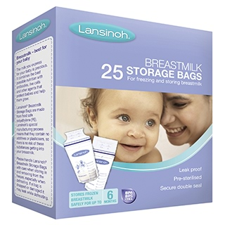 Image for Lansinoh Breast Milk Bags - 25 Pack from Amcal