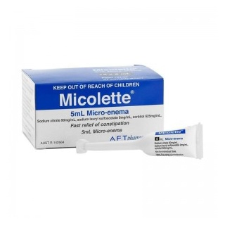 Image for Micolette Micro Enema - 4 X 5ml from Amcal