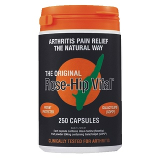 Image for Rose-Hip Vital Natural Arthritis Pain Relief - 250 Capsules from Amcal