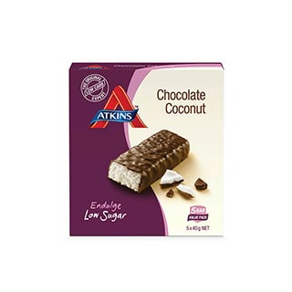 Image for Atkins Endulge Chocolate Coconut 200g - 5 Pack from Amcal