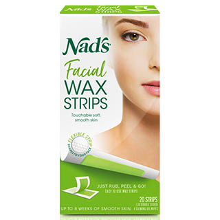 Image for Nad's Facial Hair removal wax - 20 Strips from Amcal