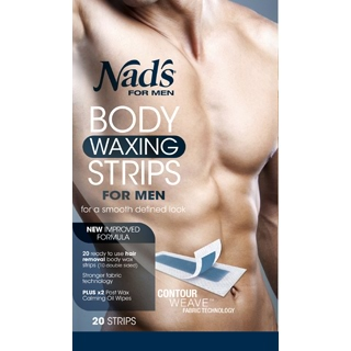 Image for NADS for Men Body Waxing Strips - 20 Strips from Amcal
