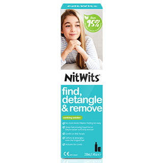 Image for Nitwits Comb Solution & Comb - 220mL from Amcal