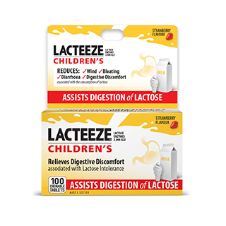 Image for Lacteeze Children's Strength Chewable - 100 Tablets from Amcal