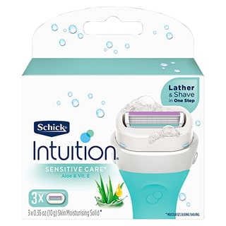 Image for Schick Intuition Plus Sensitive Care Blades - 3 Pack from Amcal
