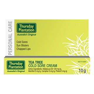 Image for Thursday Plantation Tea Tree Cold Sore Cream - 10g from Amcal