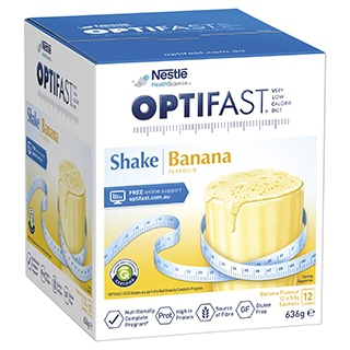 Image for Optifast VLCD Banana Shake - 12 x 53g Sachets from Amcal