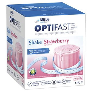 Image for Optifast VLCD Strawberry Shake - 12 x 53g Sachets from Amcal