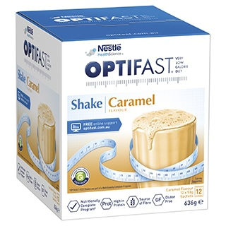 Image for Optifast VLCD Caramel Shake - 12 x 53g Sachets from Amcal