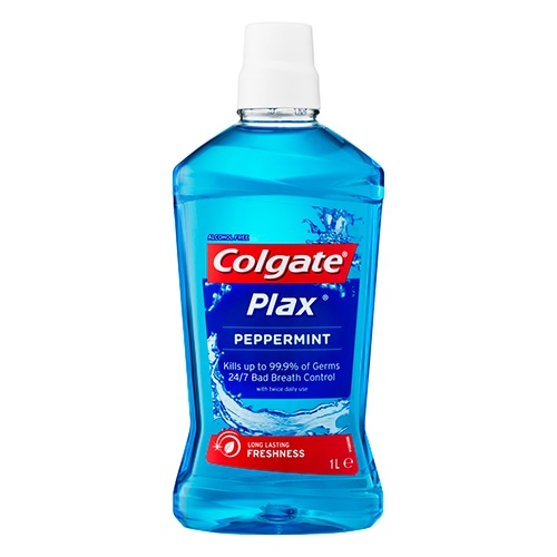 Image for Colgate Plax Mouthwash Peppermint - 1L from Amcal