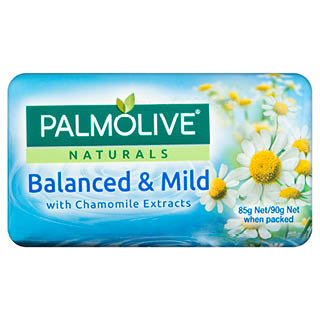 Image for Palmolive Naturals Balanced & Mild Chamomile Soap 90g - 4 Pack from Amcal