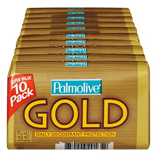 Image for Palmolive Gold Soap Bar - 10 Pack from Amcal