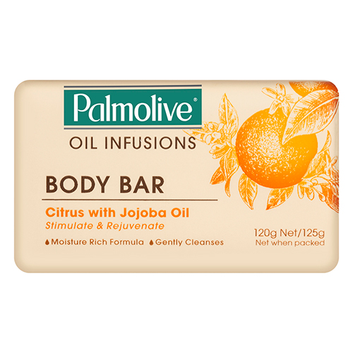 Image for Palmolive Oil Infusions Body Bar Citrus with Jojoba Oil - 125g from Amcal
