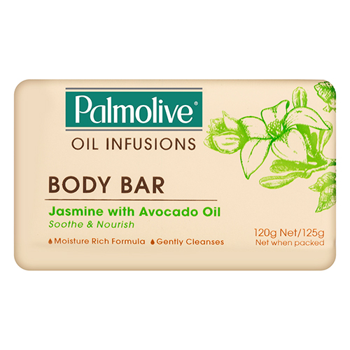 Image for Palmolive Oil Infusions Body Bar Jasmine with Avocado Oil - 125g from Amcal