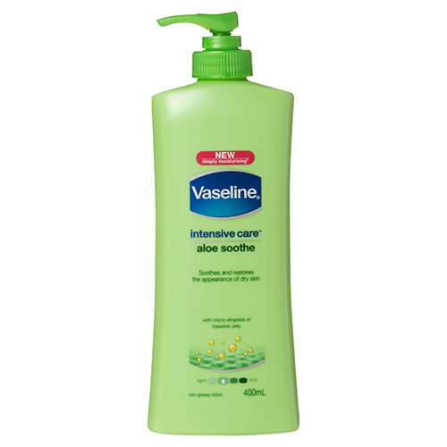 Image for Vaseline Intensive Care Aloe Soothe Body Lotion - 400mL from Amcal