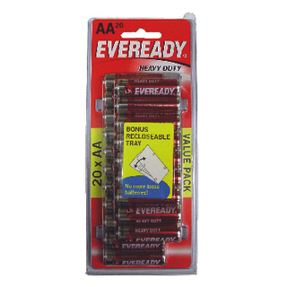 Image for Eveready Heavy Duty AA Batteries - 20 Pack from Amcal