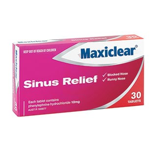 Image for Maxiclear Sinus Relief 30 Tablets from Amcal