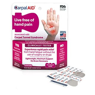 Image for CarpalAid Pain Relief Hand Patch Small - 6 Pack from Amcal