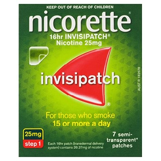 Image for Nicorette 16 hour Invisipatch 25mg Step - 7 Pack from Amcal