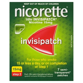Image for Nicorette 16 hour Invisipatch 15mg Step 2 - 7 Pack from Amcal