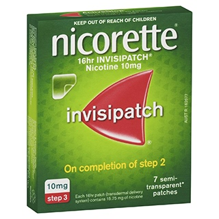 Image for Nicorette 16 hour Invisipatch 10mg Step 3 - 7 Pack from Amcal