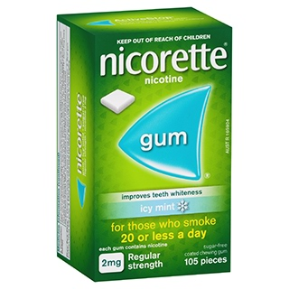 Image for Nicorette Gum 2mg Icy Mint - 105 Pack from Amcal