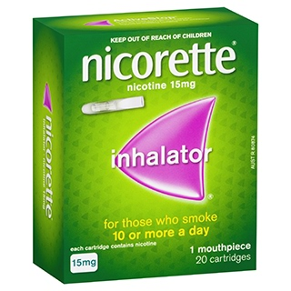 Image for Nicorette Inhalator 15mg - 20 Pack from Amcal