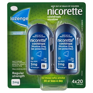 Image for Nicorette Cooldrops Lozenge 2mg - 80 Pack from Amcal