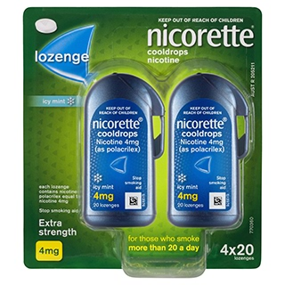 Image for Nicorette Cooldrops Lozenge 4mg - 80 Pack from Amcal
