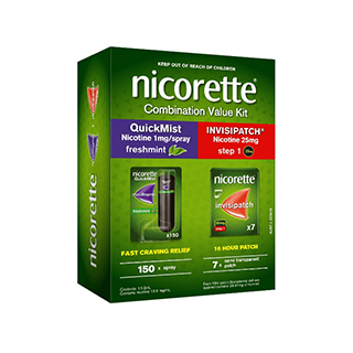 Image for Nicorette Combination Value Kit Quick Mist And Invisipatch from Amcal