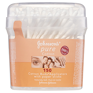 Image for Johnson's Cotton Buds Canister - 150 Pack from Amcal