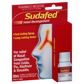 Image for Sudafed Nasal Spray Refill - 20ml from Amcal