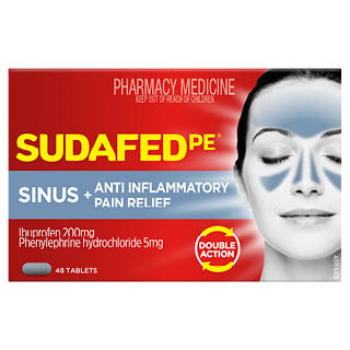Image for Sudafed Pe Sinus & Anti-Inflammatory Pain Relief - 48 Tablets from Amcal