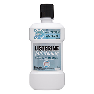 Image for Listerine Whitening Enamel Protection Mouthwash Clean Mint - 470mL from Amcal