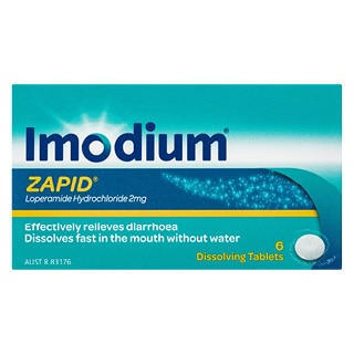 Image for Imodium Zapid 2mg - 6 Tablets from Amcal
