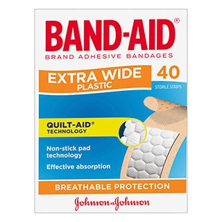 Image for Band-Aid Extra Wide Strips - 40 Pack from Amcal