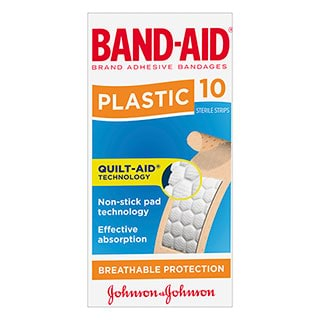 Image for Band-Aid Plastic Strip Skin - 10 Pack from Amcal