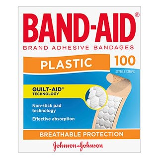 Image for Band-Aid Plastic Strip - 100 Pack from Amcal