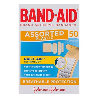 Image for Band-Aid Plastic Strip Assorted - 50 Pack from Amcal