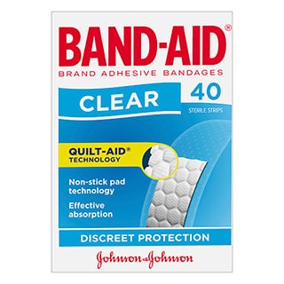 Image for Band-Aid Plastic Clear Strips - 40 Pack from Amcal