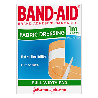 Image for Band-Aid Fabric Dressing Full Width Pad 1m X 6cm from Amcal
