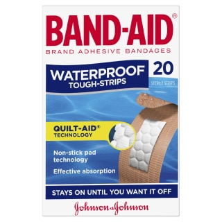 Image for Band-Aid Waterproof Tough Strips - 20 Pack from Amcal