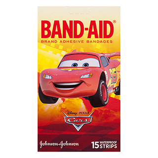 Image for Band-Aid Brand Disney Pixar Cars Waterproof Strips - 15 Pack from Amcal