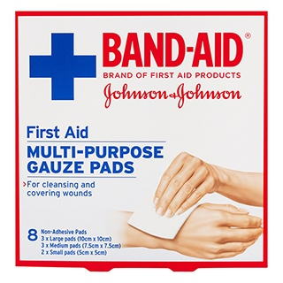 Image for Band-Aid First Aid Multi-Purpose Gauze Pads - 8 Pack from Amcal