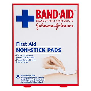 Image for Band-Aid First Aid Non-Stick Pads - 8 Pack from Amcal
