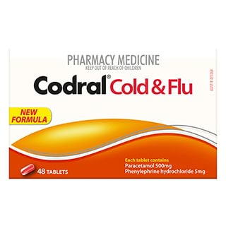 Image for Codral PE Cold & Flu - 48 Tablets from Amcal