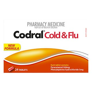 Image for Codral PE Cold & Flu - 24 Tablets from Amcal