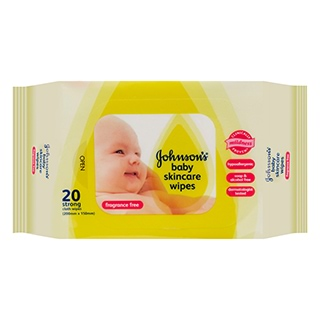 Image for Johnson's Baby Wipes Fragrance Free Travel - 20 Pack from Amcal