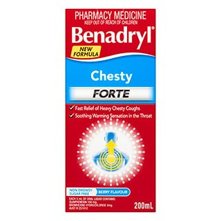 Image for Benadryl Chesty Forte Cough Liquid - 200mL from Amcal